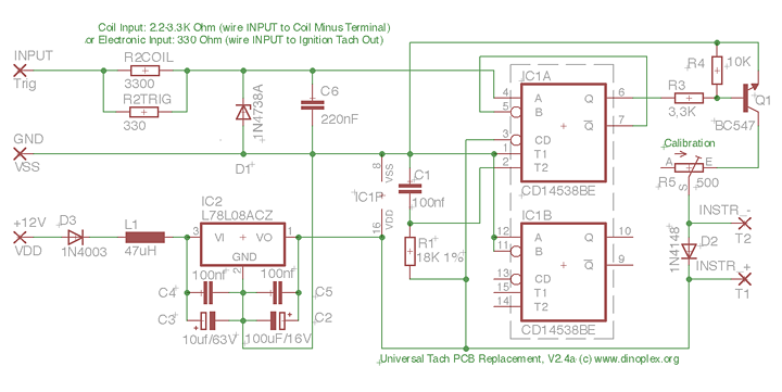 Tacho Circuit Board Replacement for Classic Tachometers – Lumenition Wiring Diagram